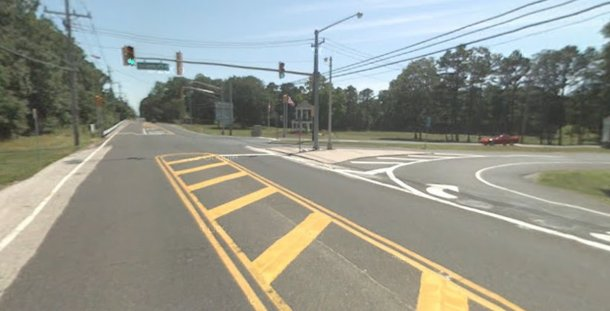 A 54-year-old woman was killed after being hit by a car at the intersection of Route 9 and Smithville Blvd. in Galloway.