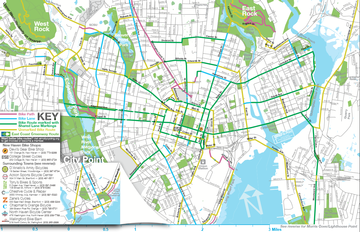 New Haven's cycling infrastructure has grown dramatically over the past decade.