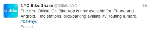 Get the free Official Citi Bike app on Google Play: http://ow.ly/lfA5M  or the App Store: http://ow.ly/lfAcK