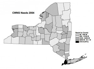 "According to a 2008 report from the DEC regarding wastewater infrastructure needs of NYS, ""The need documented in the [CWNS] 2008 survey is expected to be  significantly higher than the 2004 CWNS."" 