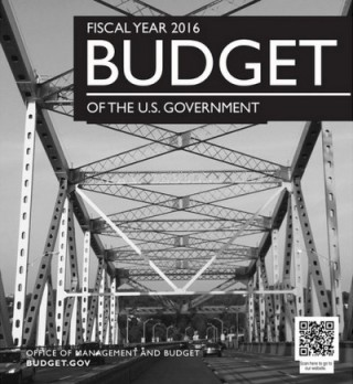 The Tappan Zee Bridge features prominently on the cover of the FY2016 Federal Budget.  | Image:  budget.gov via Wall Street Journal