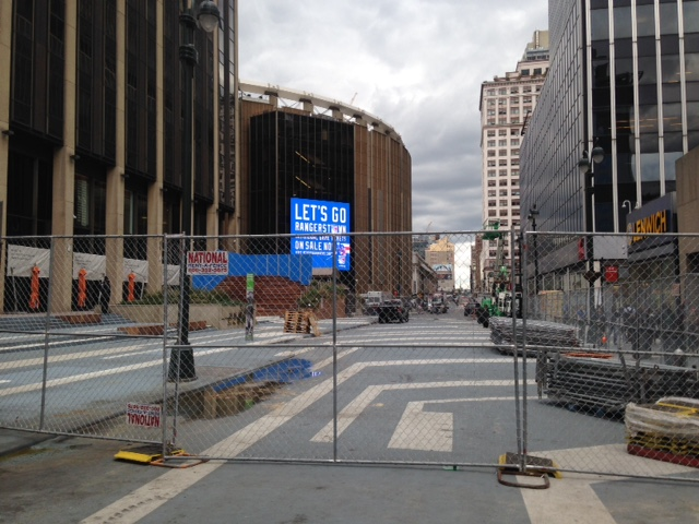 The remains of Penn Station's Plaza33.