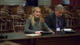 TSTC's Janna Chernetz testifying at the New Jersey Assembly's Transportation and Independent Authorities Committee. | © 2015 Brian Branch Price