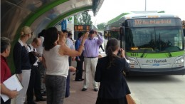 TSTC and ConnDOT organized a tour of CTfastrak for transit planners from New York and New Jersey in 2015. | Image: Joseph Cutrufo/TSTC