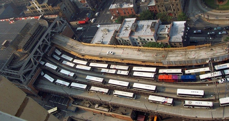 Buses flowing in and out of the Port Authority Bus Terminal in Midtown Manhattan | Image: Bosc D'Anjou/Flickr