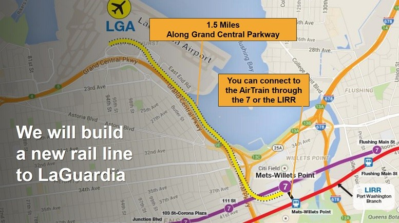 Nyc Subway Map Laguardia.Instead Of Spending 1 5 Billion On An Airtrain To Laguardia How