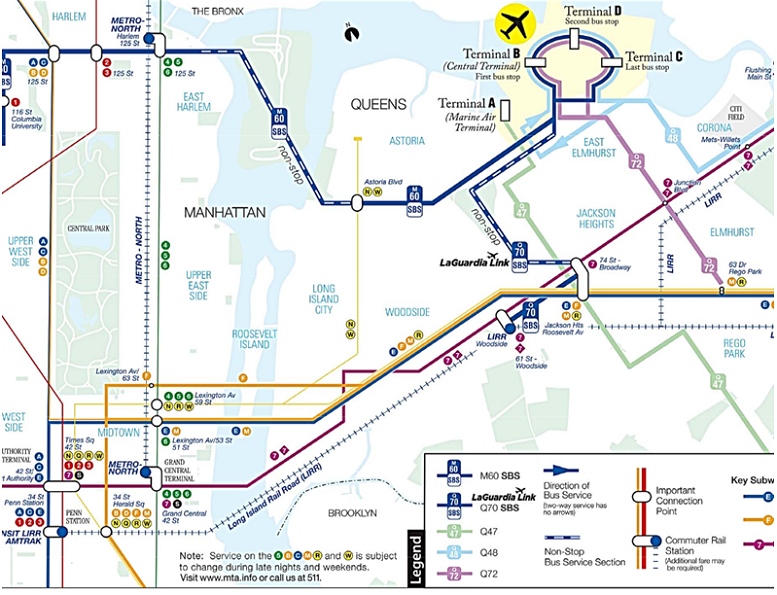 Nyc Subway Map Airtrain.Instead Of Spending 1 5 Billion On An Airtrain To Laguardia How