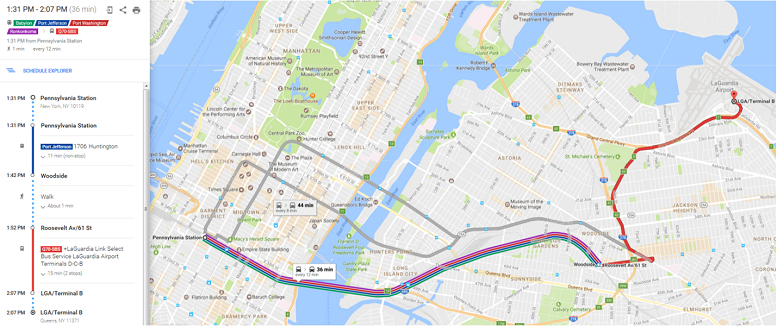 Instead Of Spending Billion On An AirTrain To LaGuardia How - Laguardia airport map