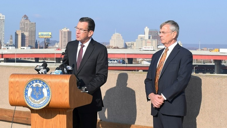 Governor Dannel Malloy and ConnDOT Commissioner James Redeker | Image: Dannel Malloy/Flickr